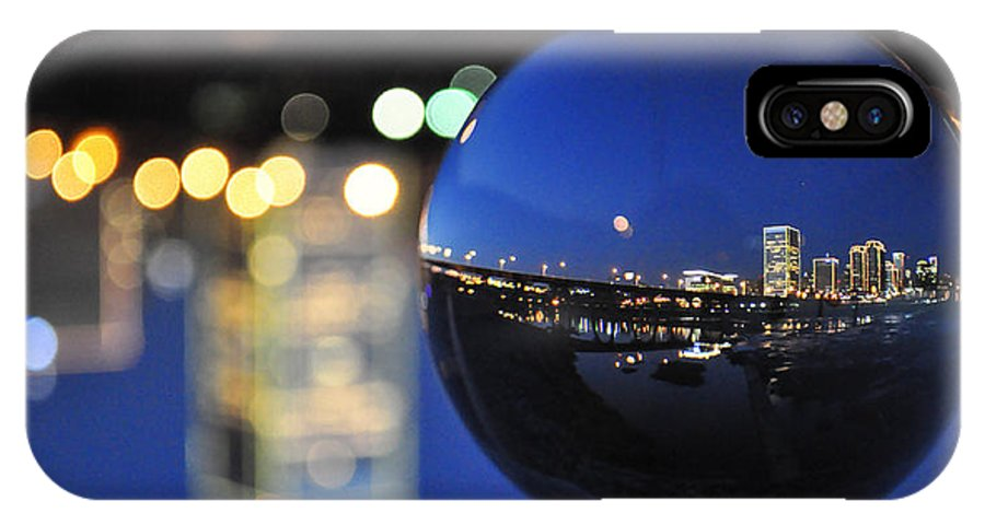 Rva IPhone X Case featuring the photograph City In A Globe by Stacy Abbott