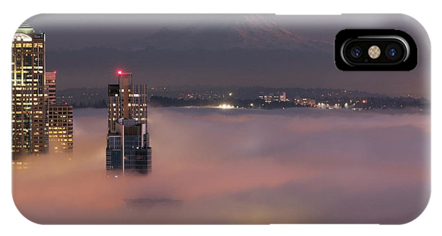 Architecture IPhone X Case featuring the photograph City In The Sky by James Tarver
