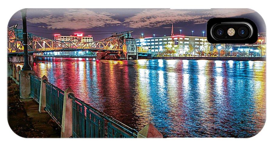 Bridge IPhone X Case featuring the photograph City Lights by Joliet James