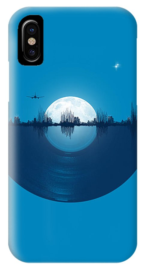 City IPhone X Case featuring the digital art City Tunes by Neelanjana Bandyopadhyay