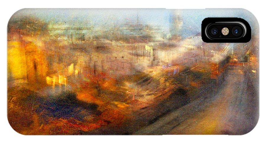 Digital IPhone X Case featuring the photograph Cityscape #17 - Redpolis by Alfredo Gonzalez