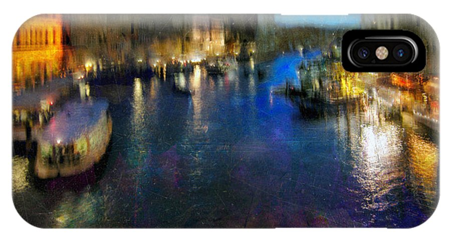 Digital IPhone X Case featuring the photograph Cityscape #19. Venetian Night by Alfredo Gonzalez