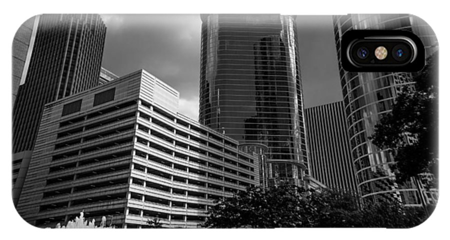 Perspective IPhone X Case featuring the photograph Cityscape 23 G Houston by Otri Park