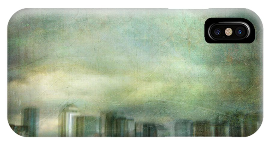 Digital IPhone X Case featuring the photograph Cityscape #32. Chrystalhenge by Alfredo Gonzalez
