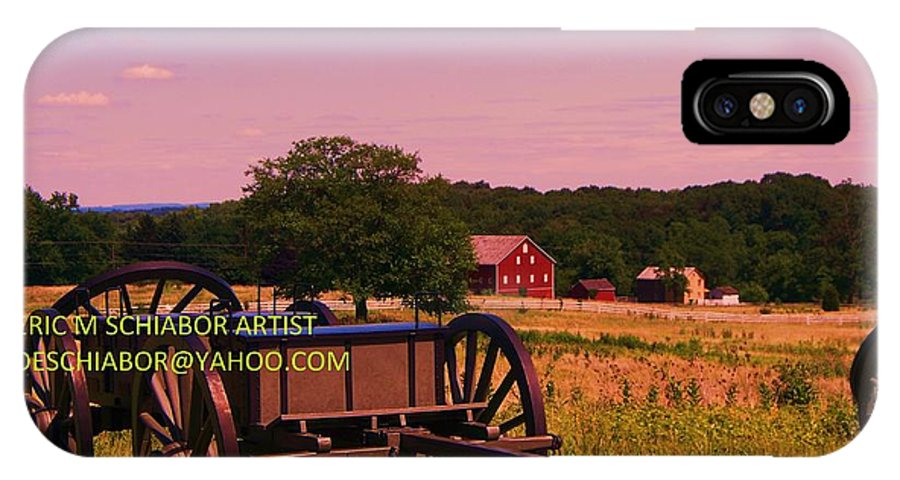 Civil War IPhone X Case featuring the photograph Civil War Caisson At Gettysburg by Eric Schiabor