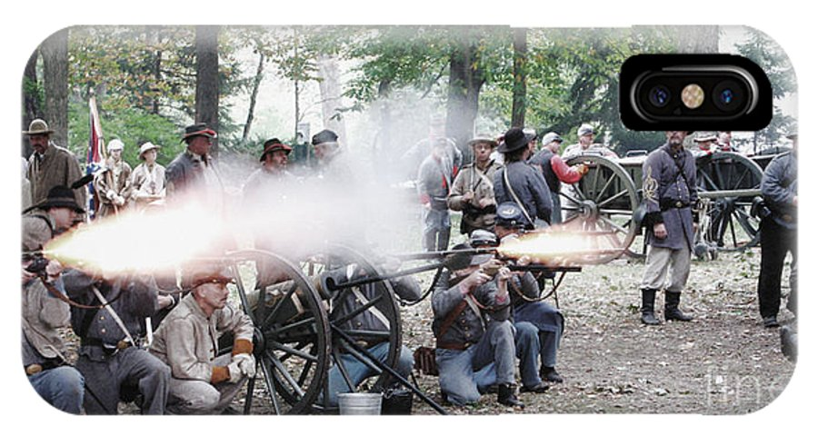 Civil War Reenactment IPhone X Case featuring the photograph Civil War Reenactment by Jack Schultz