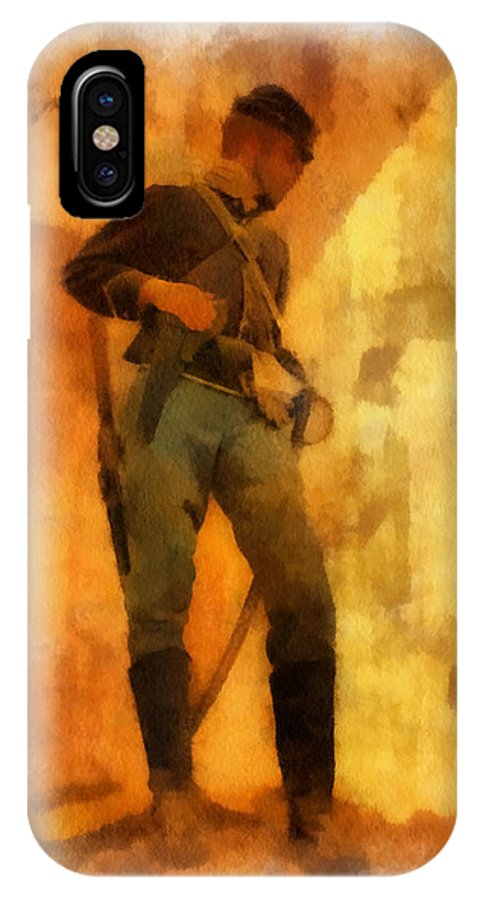 Civil War IPhone X Case featuring the photograph Civil War Soldier Photo Art by Thomas Woolworth