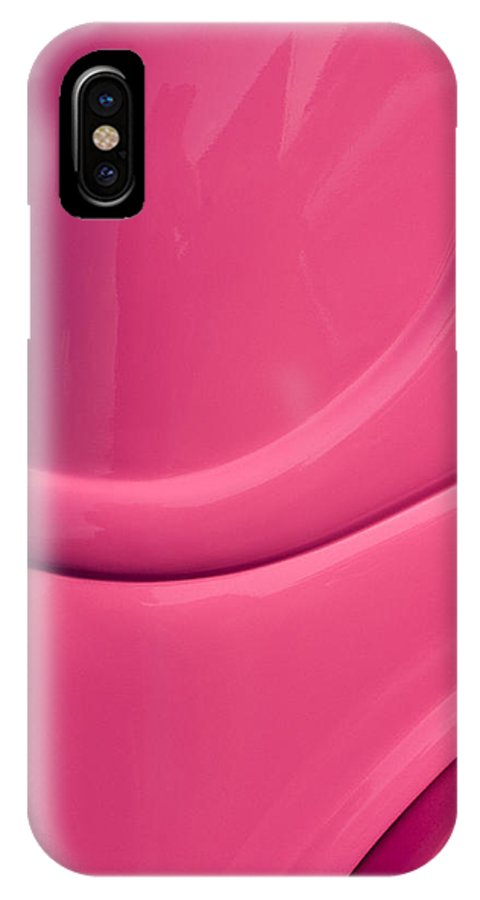 Pink IPhone X Case featuring the photograph Classic Car Pink - 09.20.08_474 by Paul Hasara