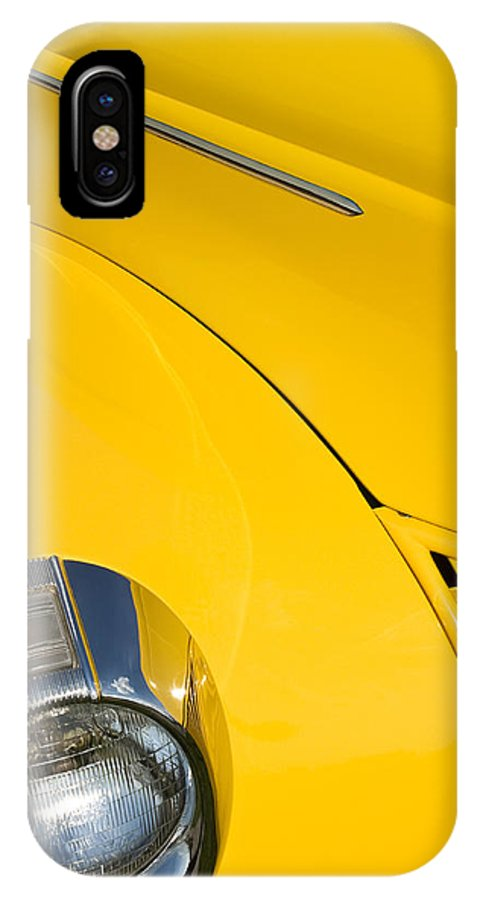 Yellow IPhone X Case featuring the photograph Classic Car Yellow - 09.20.08_471 by Paul Hasara