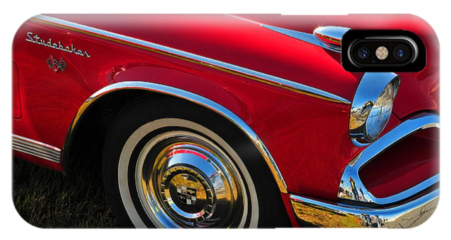 Car IPhone X Case featuring the photograph Classic Red Studebaker by Mike Martin