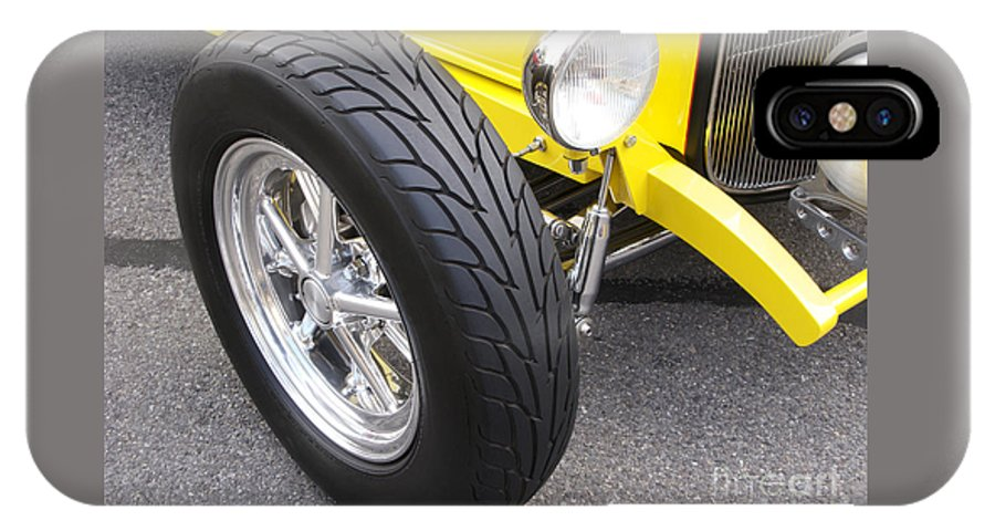 Classic Car IPhone X Case featuring the photograph Classic Tire Tread by Ann Horn