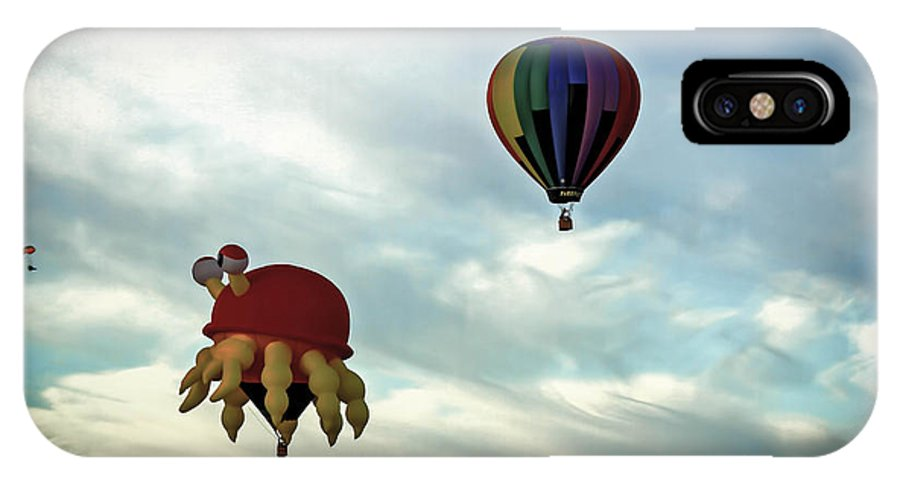 Hotairballoon IPhone X Case featuring the photograph Claw D The Crab by Brenda Giasson