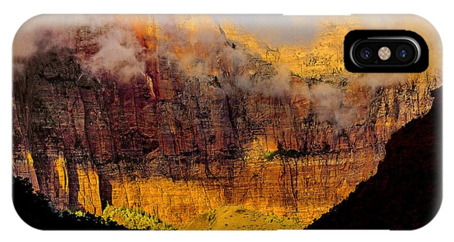 National Park IPhone X / XS Case featuring the photograph Clearing Storm West Temple 2012 by Ralph Nordstrom