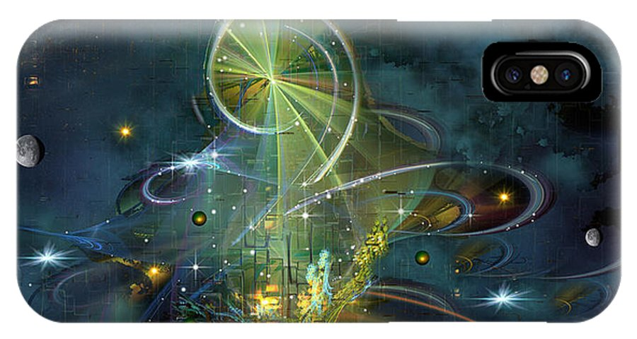 Phil Sadler IPhone X Case featuring the digital art Clef Note by Phil Sadler
