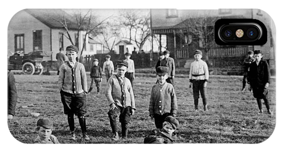 Children IPhone X Case featuring the photograph Cleveland Boy Gang by Historic Vantage