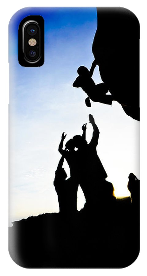 Acrobatic IPhone X Case featuring the photograph Climber Silhouette 3 by Chase Taylor