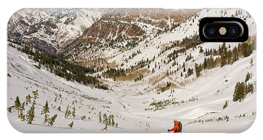 Alta IPhone X Case featuring the photograph Climbing In Big Cottonwood Canyon by Howie Garber