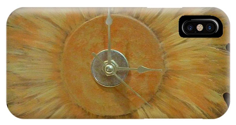 Clock IPhone X Case featuring the photograph Clock by Karen Capehart