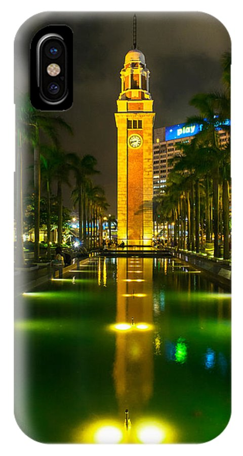 Hong Kong IPhone X / XS Case featuring the photograph Clock Tower Of Old Kowloon Station by Hisao Mogi