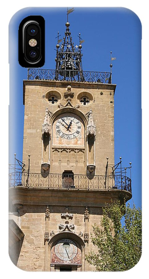 Clock IPhone X Case featuring the photograph Clocktower - Aix En Provence by Christiane Schulze Art And Photography