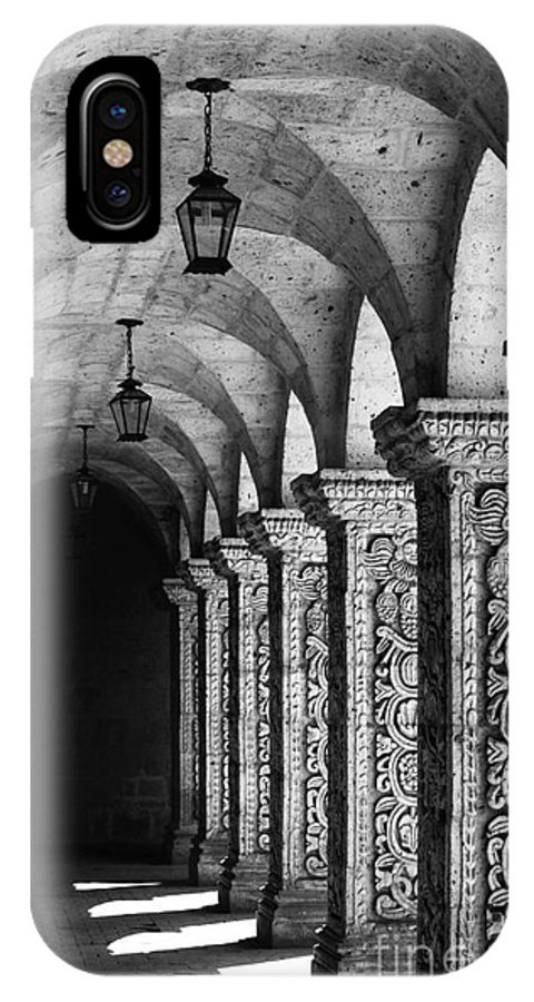 Peru IPhone X Case featuring the photograph Cloisters In Arequipa Peru by James Brunker