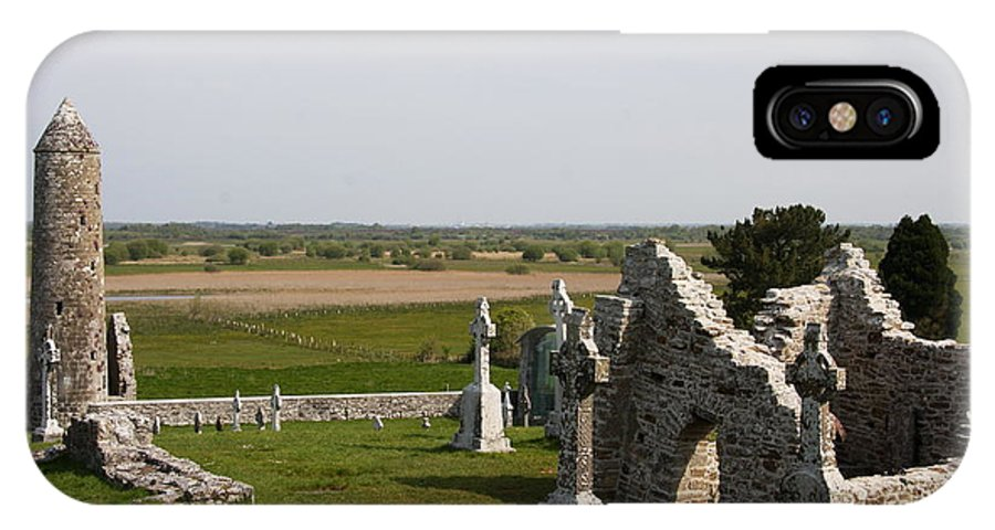 Clonmacnoise IPhone X Case featuring the photograph Clonmacnoise - Ireland by Christiane Schulze Art And Photography