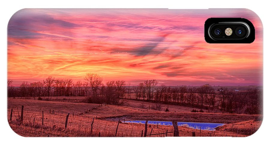 Iowa IPhone X Case featuring the photograph Close Of Day by Tom Weisbrook