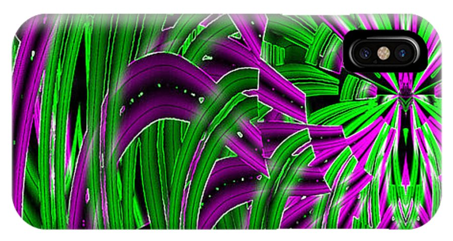 Green Gods IPhone X Case featuring the digital art Closer 2 U by XERXEESE Color Schemes