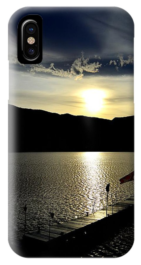 Clouds IPhone X Case featuring the photograph Cloud Chasing - Skaha Lake 4-2-2014 by Guy Hoffman