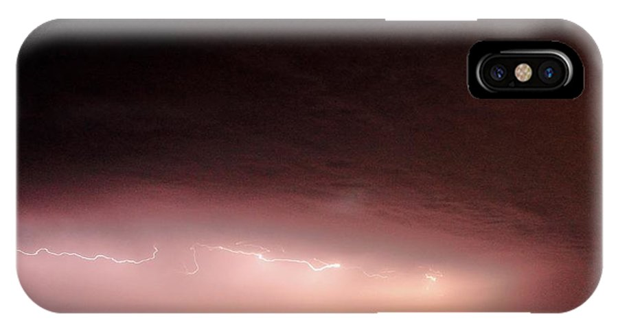 Lightning IPhone X Case featuring the photograph Cloud Crawler by David Pauley