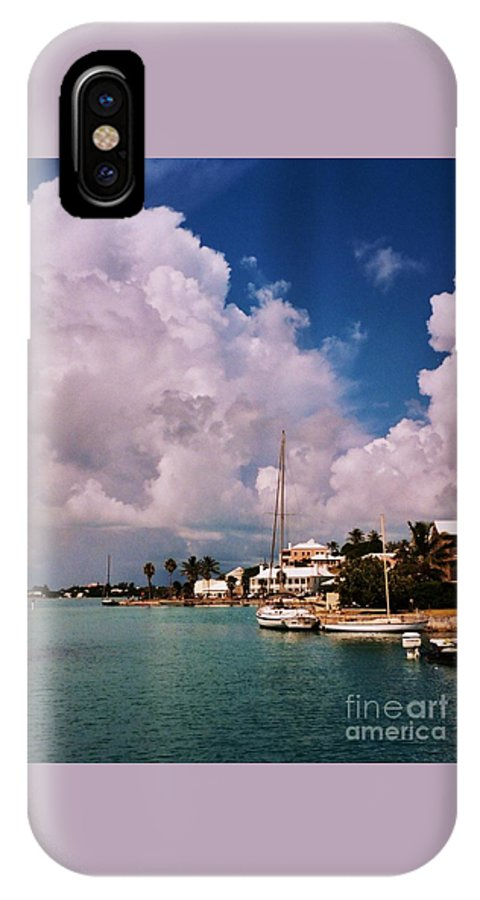 Bermuda Art Anthropomorphism Pareidolia Travel Water Destination St Georges Unique Moment Stock Shot Outdoors Harbor Clouds With Faces Rasta Mon Puppy Dog Face Serene Canvas Print Metal Frame Poster Print Available On Phone Cases Tote Bags Shower Curtains Throw Pillows T Shirts And Mugs IPhone X Case featuring the photograph Cloud Faces Over St. George's, Bermuda by Marcus Dagan