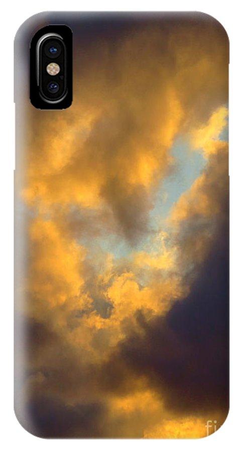 Cloud Series Ll - G IPhone X Case featuring the photograph Cloud Series Ll - G by Robert Birkenes