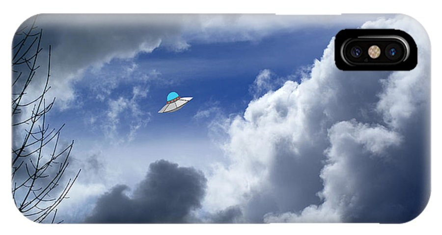 Aliens IPhone X Case featuring the photograph Cloud Surfing by Ben Upham III