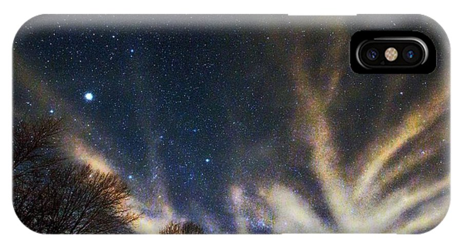 Star IPhone X Case featuring the photograph Cloud Tree In A Starry Sky by Robert Neiszer