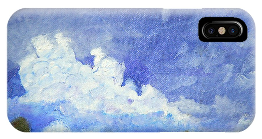 Clouds IPhone X Case featuring the painting Clouds 1 by David Carson Taylor