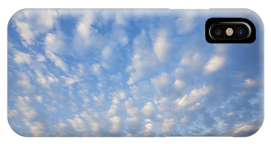 Atmosphere IPhone X / XS Case featuring the photograph Clouds by David Davis