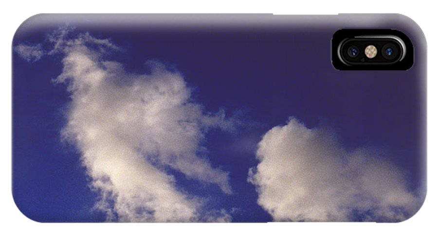 Clouds IPhone X Case featuring the photograph Clouds by Mark Greenberg