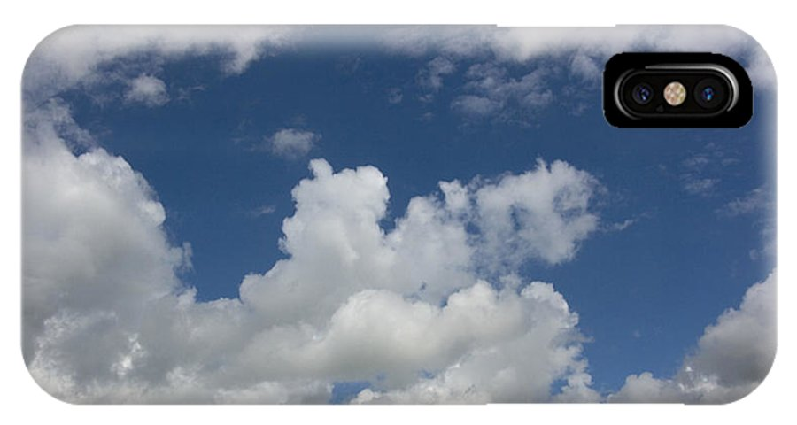 Cumulus IPhone X Case featuring the photograph Cloudy Blue Sky by Peter Lloyd