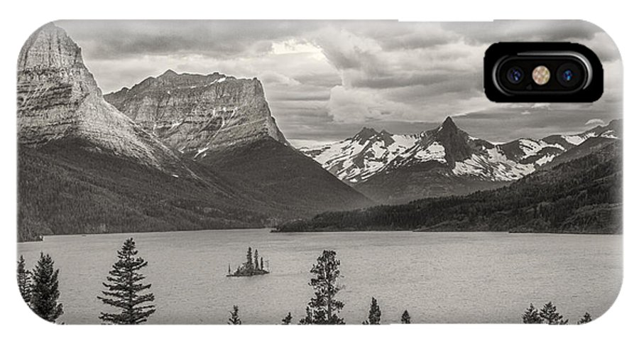Art IPhone X Case featuring the photograph Cloudy Mountain Top by Jon Glaser
