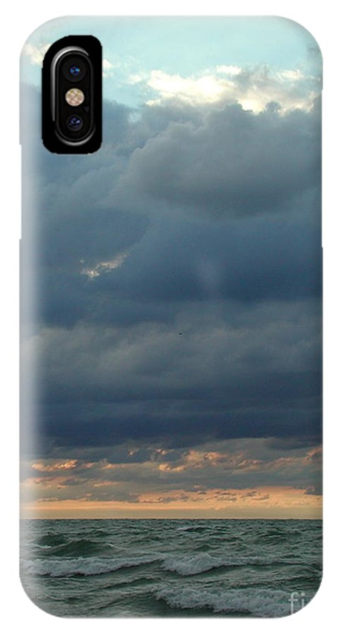 Clouds IPhone X Case featuring the photograph Cloudy Sunset by Barbara Keagler