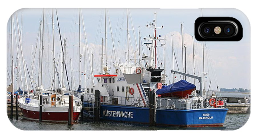 Harbor IPhone X Case featuring the photograph Coast Guard Maasholm Harbor by Christiane Schulze Art And Photography