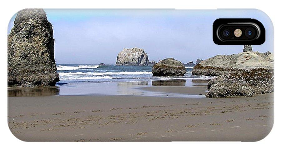 Coast IPhone X Case featuring the photograph Coastal Sculptures by Barbara Stellwagen