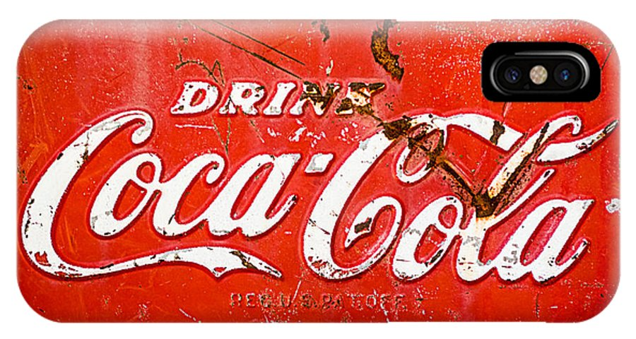 Coca-cola Sign IPhone X Case featuring the photograph Coca-cola Sign by Jill Reger