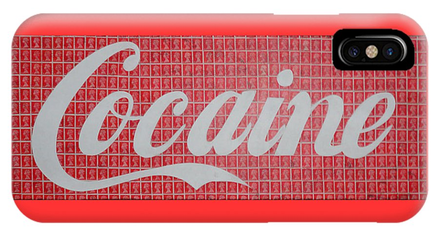Cocaine IPhone X Case featuring the painting Cocaine by Gary Hogben