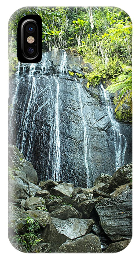 Waterfall IPhone X Case featuring the photograph Coco Falls - El Yunque by Ben Tucker