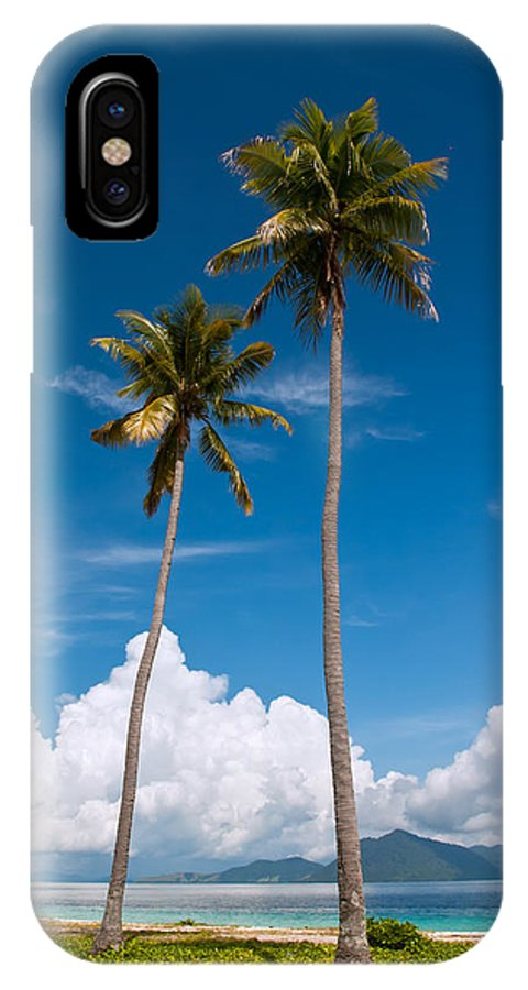 Coconut IPhone X Case featuring the photograph Coconut Trees by Kim Pin Tan