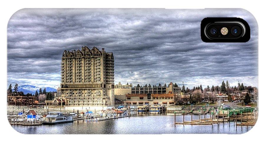 Landscape IPhone X Case featuring the photograph Coeur d'Alene Resort 2 by Lee Santa