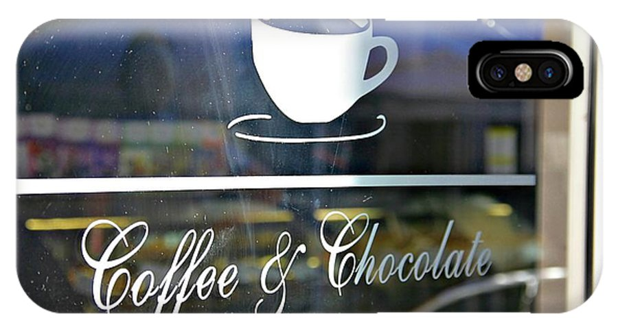 Coffee Shop IPhone X Case featuring the photograph Coffee And Chocolate by Sharon Popek