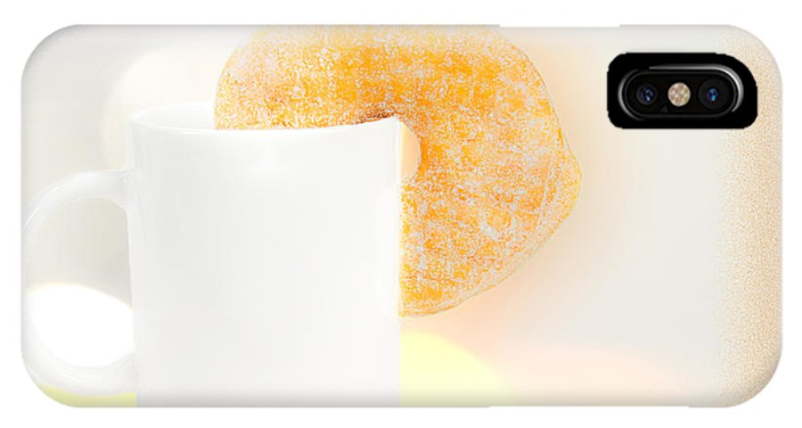 Coffee And Donuts IPhone X Case featuring the photograph Coffee And Donuts Two by Bob Orsillo
