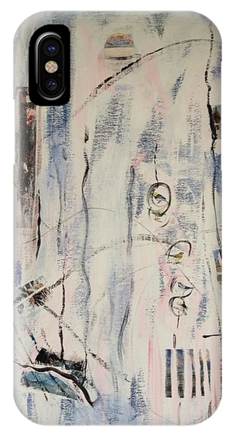 Kandinsky IPhone X Case featuring the mixed media Coffee Ice And Birds by Adam Underwood